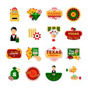 Stock Illustration of Casino Decorative Icon  Set