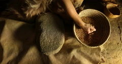 Grinding wheat Stock Footage