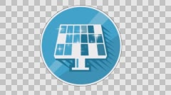 Stock Video Footage of Ecology Concept Icon. Solar Battery