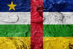 Central african republic flag - stock illustration