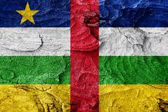 Central african republic flag - stock illustration