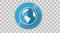 Ecology Concept Icon. Blue Globe Stock Footage