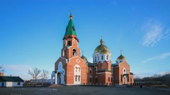 St. Andrew's Cathedral in Ust-Kamenogorsk - stock footage