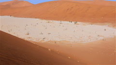 Namibia Sossusvlei Deadvlei zoom - stock footage