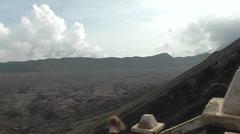 Stock Video Footage of Bromo vulcano, people watching
