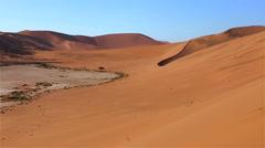 Namibia Sossusvlei pan dunes - stock footage