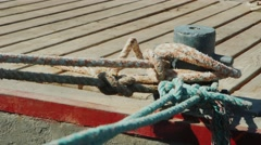 Mooring ropes and Mooring Stock Footage