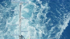 Water flowing behind the ship Stock Footage