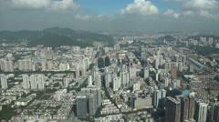 View of residential apartment buildings in suburban Shenzhen, China Stock Footage
