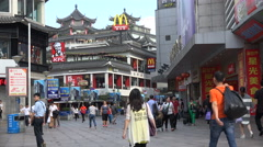 Western fast food chains, shopping street in Shenzhen city, China, Asia - stock footage