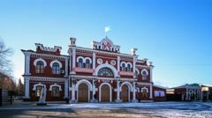 Drama Theatre huperlapse in Ust-Kamenogorsk Stock Footage