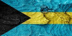 Bahamas flag Stock Illustration