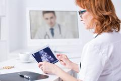 Fast online diagnose thanks to technology Stock Photos