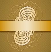 Background with ribbon. - stock illustration
