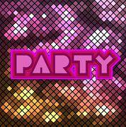 Colorful mosaic background for party. - stock illustration