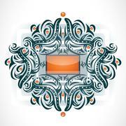 Abstract shape with frame. Stock Illustration