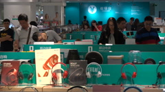 Consumer electronic store in shopping mall Shenzhen, China - stock footage
