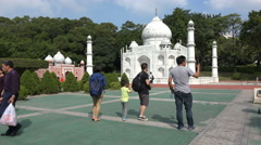 China tourism, explore, vacation, holiday, travel, Taj Mahal, reproduction - stock footage
