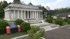 Scale model of the Lincoln Memorial in Washington, theme park Shenzhen, China. Stock Footage