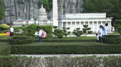 China United States contrast, tourism, Washington, Shenzhen, city, travel Stock Footage