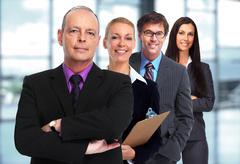 Business team. Kuvituskuvat