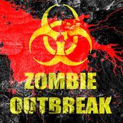 Zombie virus concept background Stock Illustration