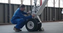 Jet Engine Wheel Repair 4K Stock Footage
