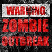 zombie virus concept background - stock illustration