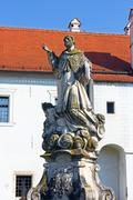 Statue of saint Ivan Nepomuk Stock Photos
