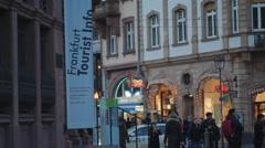 Frankfurt am Main tourist information office, Germany Stock Footage