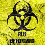 Flu virus concept background Stock Illustration