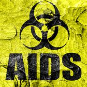 Aids virus concept background - stock illustration