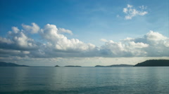 sea and cloud in Samui island, Thailand - stock footage