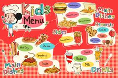 Kids Meal Menu Stock Illustration