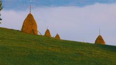 Transylvanian rural landscape 2 Stock Footage