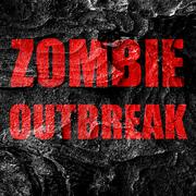 Zombie virus concept background Stock Illustration