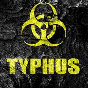 Typhus concept background - stock illustration
