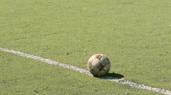 A Football on the turf - stock footage