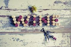 Corks wine Stock Photos