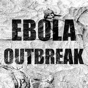 Ebola outbreak concept background - stock illustration