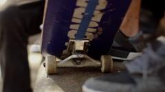 Skateboard trucks Stock Footage