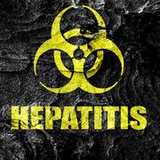 Hepatitis virus concept background - stock illustration