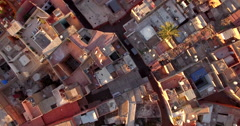 Drone footage of residential buildings, Marrakesh, Morocco Stock Footage