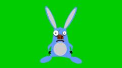 Rabbit animation. jumping rabbit, scared rabbit. Stock Footage