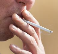 cigarette smoking man - stock photo