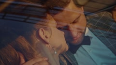 Сouple hugging in the car Stock Footage