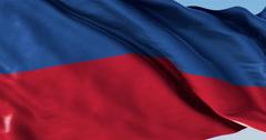 Ultra realistic looping flag: Haiti - stock footage