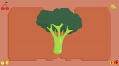 Broccoli  - Vector Graphics - Food Animation - board Stock Footage