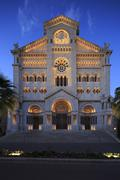 Stock Photo of NeoRomanesque NotreDameImmaculee at dusk Monaco Europe