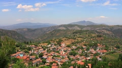 Sirince Town near the ancient Greek city of Ephesus Stock Footage